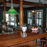 The bar in the Gibson Inn.