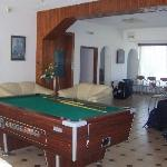 reception area & pool table