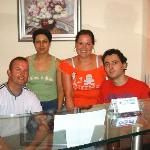 Me and my wife with Tasos and Maria, owners of the hotel