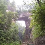 Natural Bridge on a rainy day