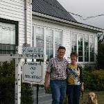 New owners with old sign