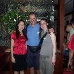 Myself, my collegue and the receptionist of the Gia Bao Hotel
