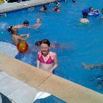 Aimielou age 12 in the smaller pool
