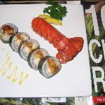 lobster roll .:tempra lobster fish reo cucumber mayonnise
