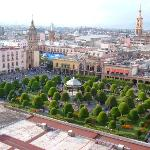 view of zocalo from hotel rooftop