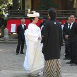 Wedding at Nezu Shrine, near Sawanoya
