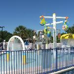 Kids pool play area
