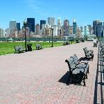 Liberty State Park with the skyline on the background