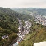 the view down to Oberwesel