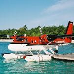 Club Med Kani. A seaplane.