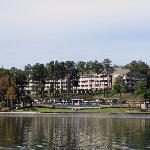 View of the resort from the lake