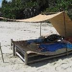 Comfortable rustic sunbed!