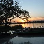 Sunset view across the Nile -