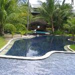 pool and bungalow with a private pool