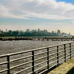 We had a refurbished room at the Comfort Inn with a beautiful view of NY skyline across the...