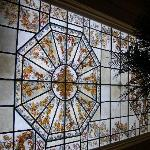 Stainglass ceiling in the bar area.. really lovely!