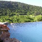 View from the 'lazy lizard' swimming pool