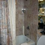 The shower with soft water and marginal water pressure