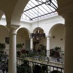 The Hotel Francia courtyard from the second floor.