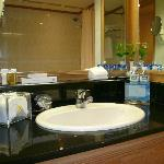 the toiletries and complimentary mineral water