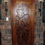 Our room door - Big 5 carving