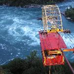 Spanish Aerocar over the whirlpool in the gorge