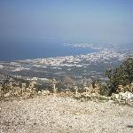 Towards Kusadasi and the sea from the mountains
