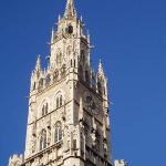 a Marienplatz tower