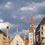 Marienplatz on a cloudy day
