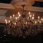 Gorgeous chandelier in the lobby