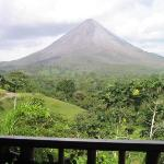 Arenal Volcano from our Balcony