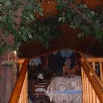 Bed on the 3rd level- has a mini forest behind ur head board- with squirrels, deers, gnomes etc
