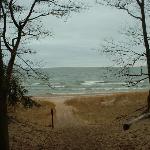 Hiking Trail looking at Lake Michigan