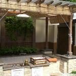 the villa's bath -- outdoors but still private