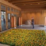 Foyer entrance with fresh flowers