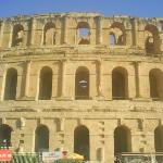 Roman ruins used for gladiator