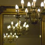 Two of the chandeliers.