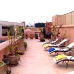 Loungers on the roof terrace (towels provided and folded!)
