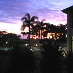 Lawaaii Beach Resort lanai at sunset 06