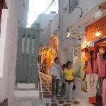 Ruelles marchandes de Mykonos