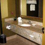 Nice clean large bathroom