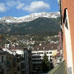View from window (leaning out) toward Goldenes Dachl