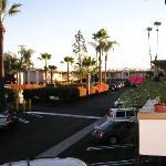 View of parking lot from doorway