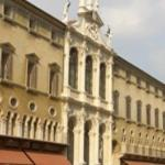 Chiesa di S.VIncenzo with Baroque facade was inserted in Palazzo del Monte with 15th century...