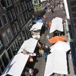 view from attic room on queen's day