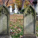 Pair of headstones