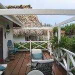 side porch of plantation suite