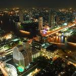 View of Chao Praya River by night