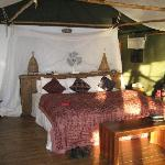 Inside of sleeping area
