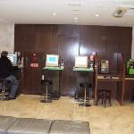 500 Yen/day internet in the room, PCs in lobby